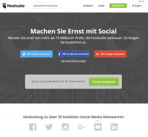 Startseite Hootsuite