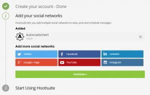 Hootsuite Account einrichten