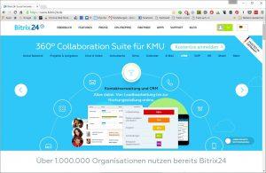Bitrix24 vereint CRM, CHat, Aufgaben und Termine auf einer Plattform (Quelle bitrix24)